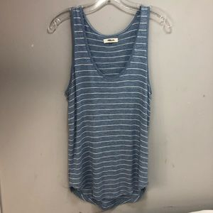 Madewell Blue and White Tank Top Sz M